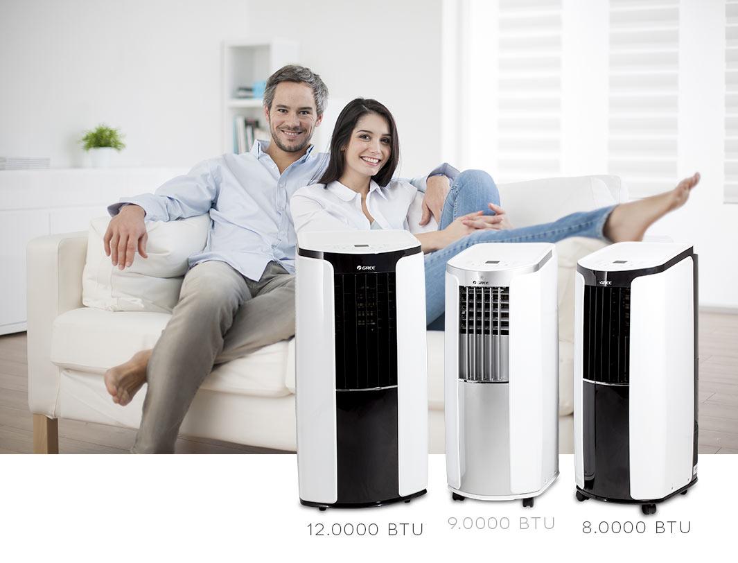 gree mobile klimaanlage shiny 12000 btu klima 3 5 kw. Black Bedroom Furniture Sets. Home Design Ideas