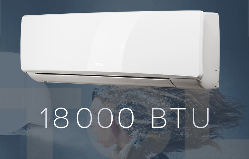 Tcl inverter climatiseur split 18000 btu 5 1kw climat for Climatiseur mural lg 18000 btu
