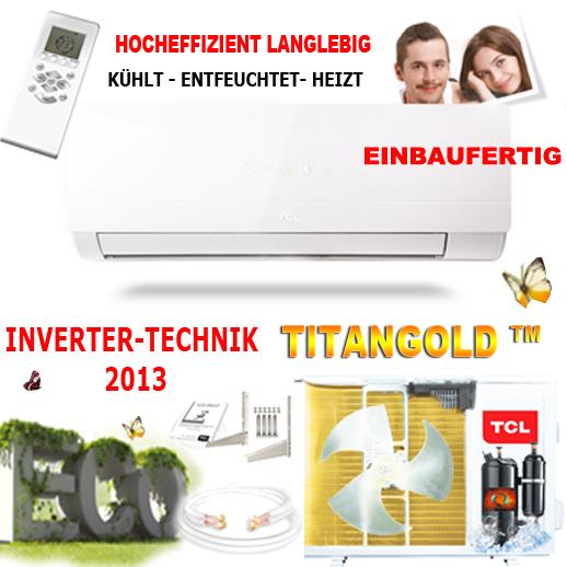 split klima anlage klimaanlage klimager t inverter tcl 12000 btu 3 5 kw heizung ebay. Black Bedroom Furniture Sets. Home Design Ideas