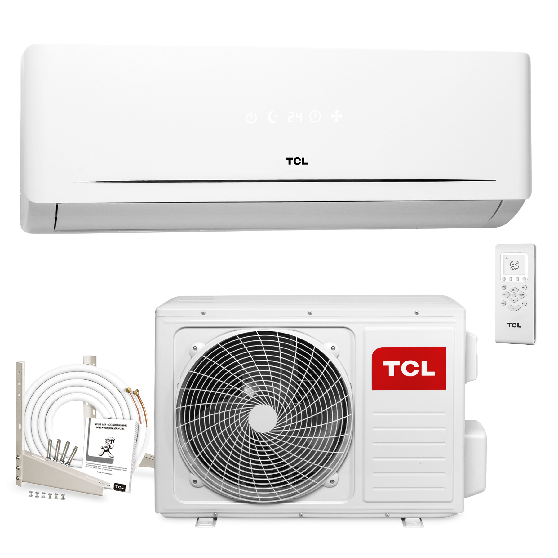 tcl inverter split klimaanlage 12000 btu 3 5kw klima. Black Bedroom Furniture Sets. Home Design Ideas